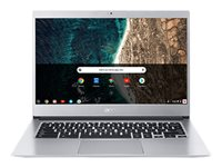 "Acer Chromebook 514 CB514-1HT-P795 - Pentium N4200 / 1.1 GHz - Chrome OS - 4 GB RAM - 64 GB eMMC - 14"" IPS pekskärm 1920 x 1080 (Full HD) - HD Graphics 505 - Wi-Fi, Bluetooth - rent silver - kbd: nordisk NX.H1LED.005"